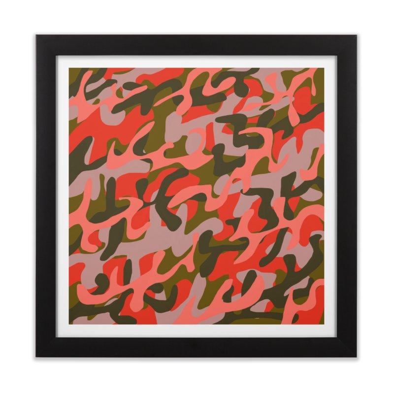 Coral Camouflage 2 Home Framed Fine Art Print by Michael Pfleghaar