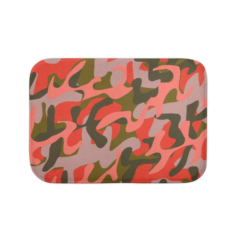 Coral Camouflage 2 Home Bath Mat by Michael Pfleghaar