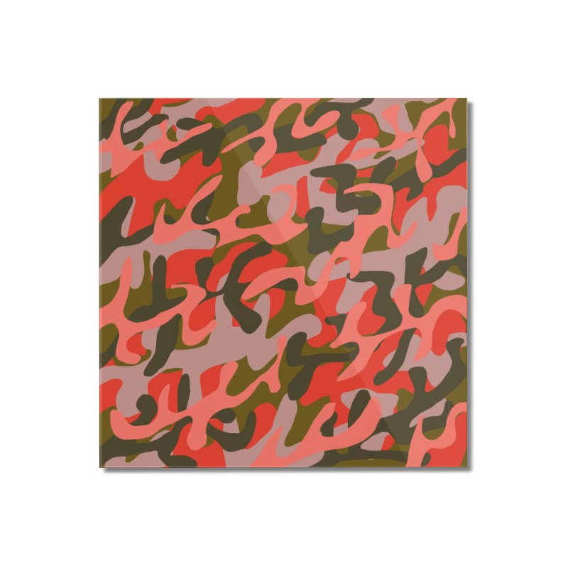 Coral Camouflage 2 Home Mounted Acrylic Print by Michael Pfleghaar