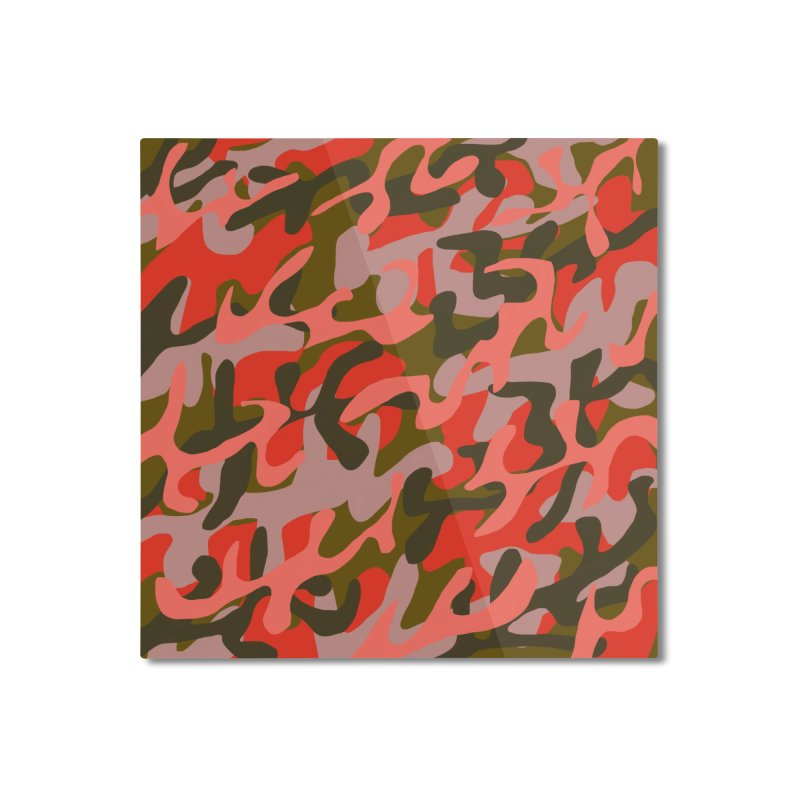 Coral Camouflage 2 Home Mounted Aluminum Print by Michael Pfleghaar