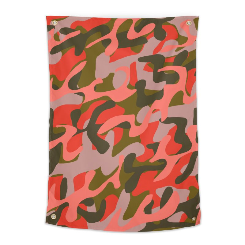 Coral Camouflage 2 Home Tapestry by Michael Pfleghaar