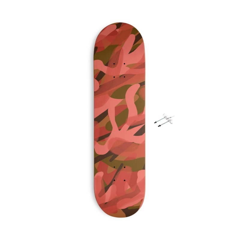 Coral Camouflage 3 Accessories With Hanging Hardware Skateboard by Michael Pfleghaar