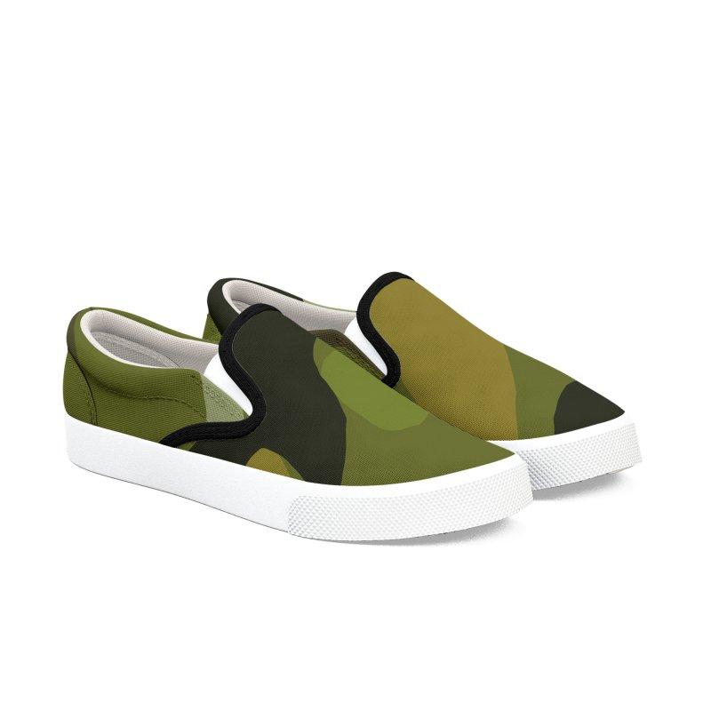 Camouflauge 1 Men's Slip-On Shoes by Michael Pfleghaar