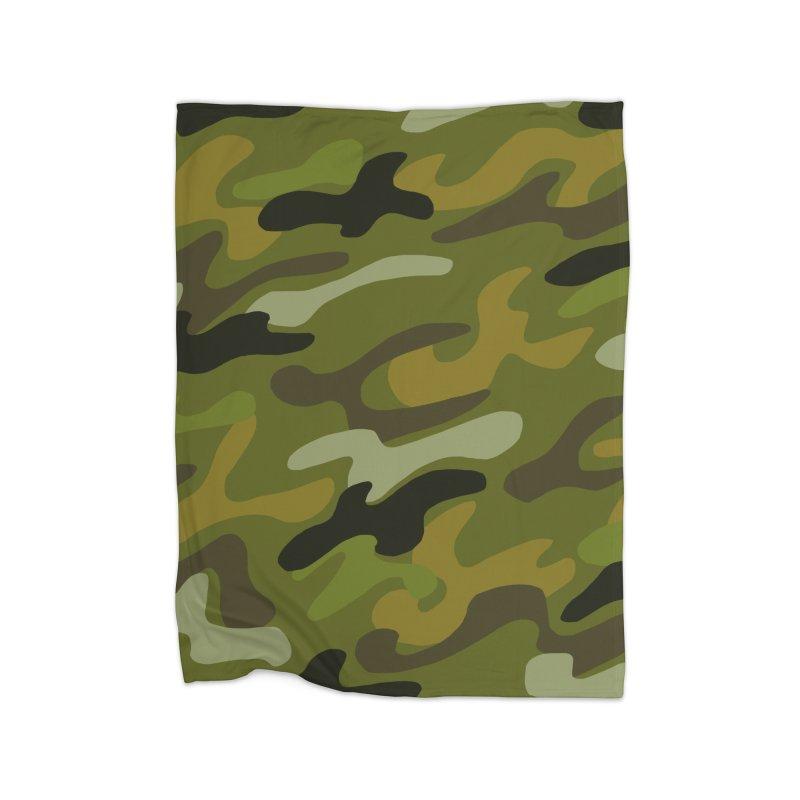 Camouflauge 1 Home Blanket by Michael Pfleghaar
