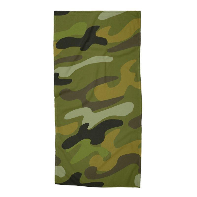 Camouflauge 1 Accessories Beach Towel by Michael Pfleghaar