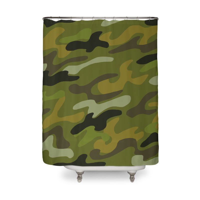 Camouflauge 1 in Shower Curtain by Michael Pfleghaar