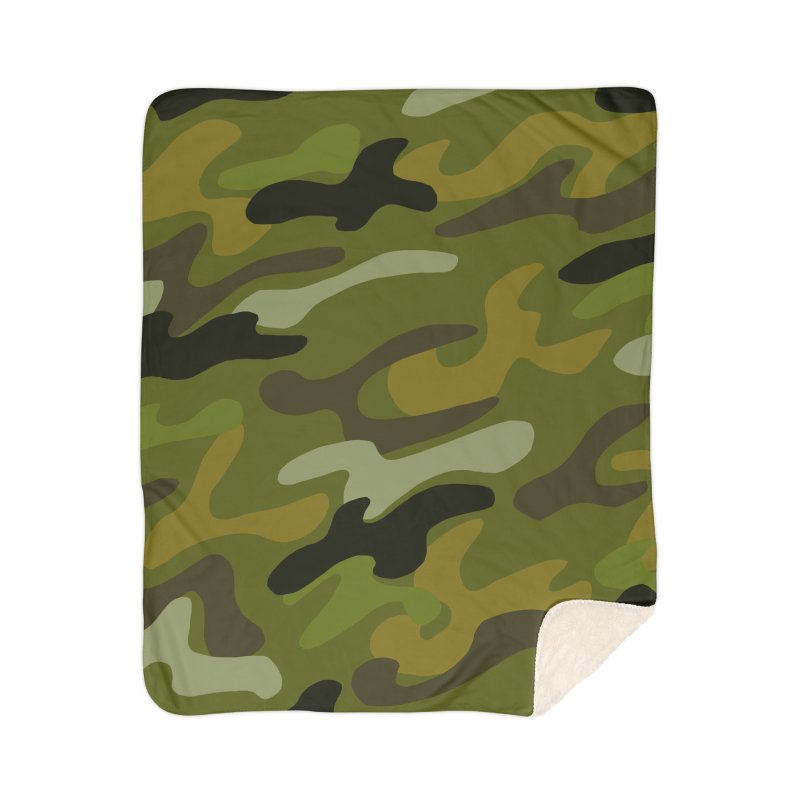 Camouflauge 1 Home Sherpa Blanket Blanket by Michael Pfleghaar