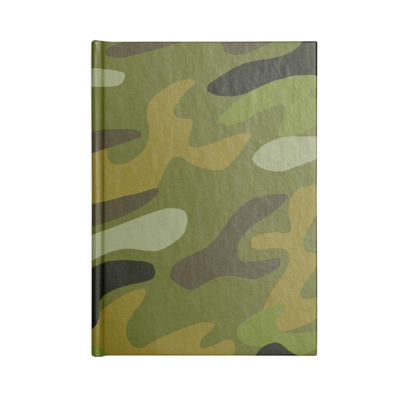 Camouflauge 1 Accessories Blank Journal Notebook by Michael Pfleghaar
