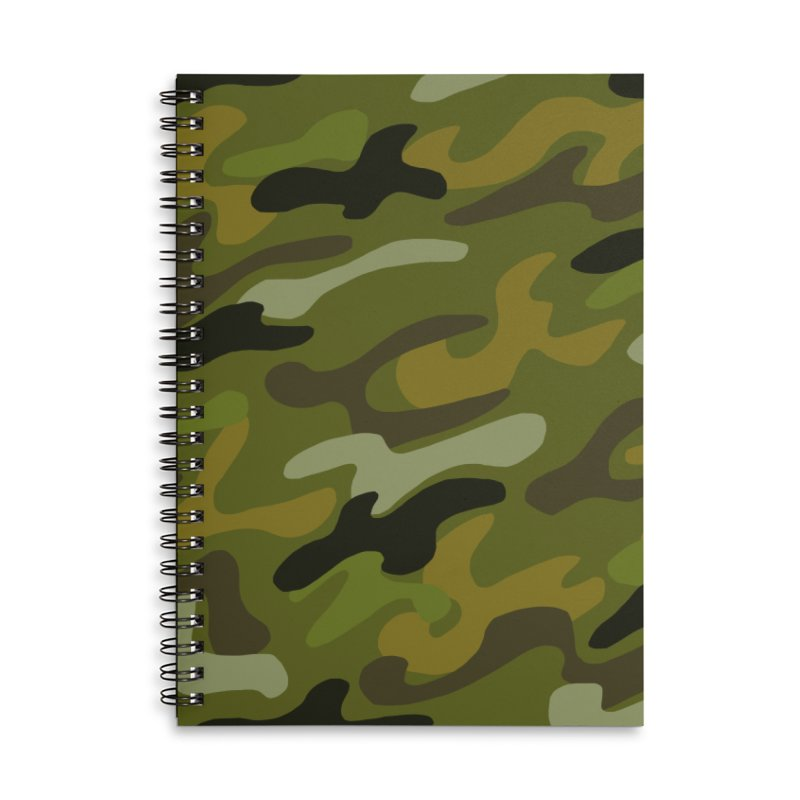 Camouflauge 1 Accessories Lined Spiral Notebook by Michael Pfleghaar