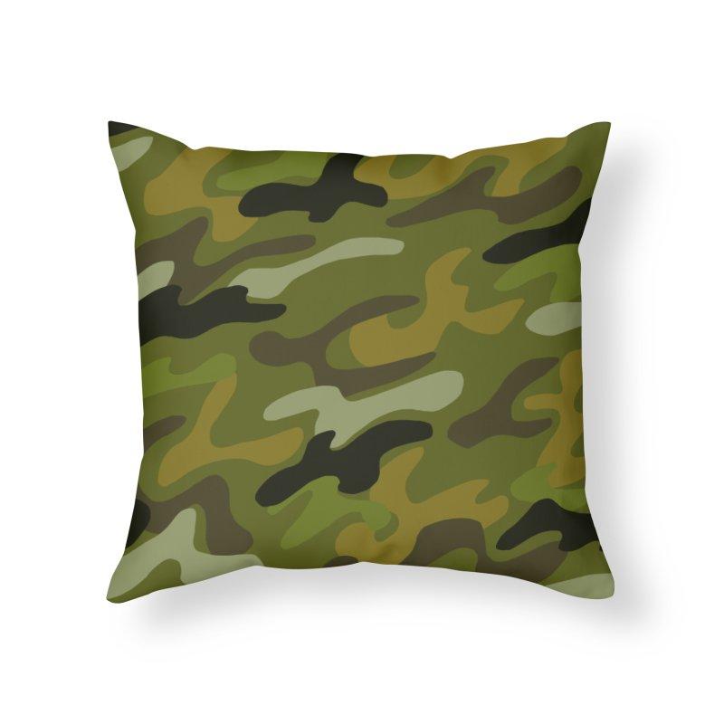 Camouflauge 1 Home Throw Pillow by Michael Pfleghaar