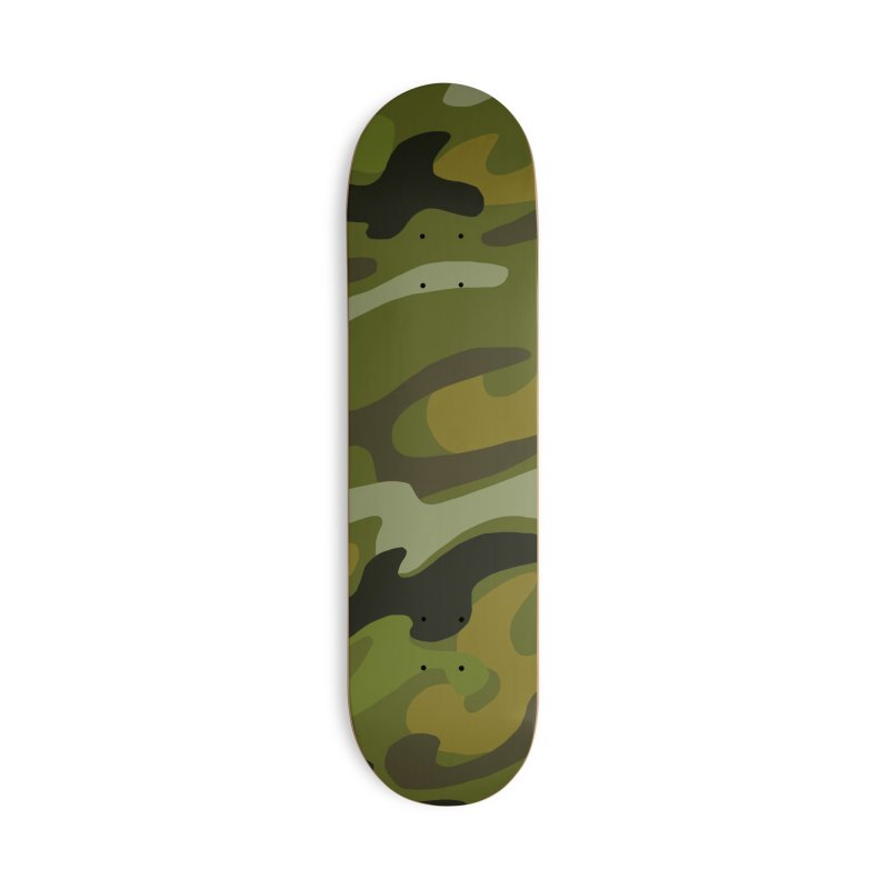 Camouflauge 1 Accessories Deck Only Skateboard by Michael Pfleghaar