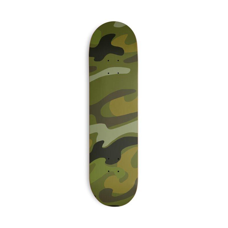 Camouflauge 1 in Deck Only Skateboard by Michael Pfleghaar