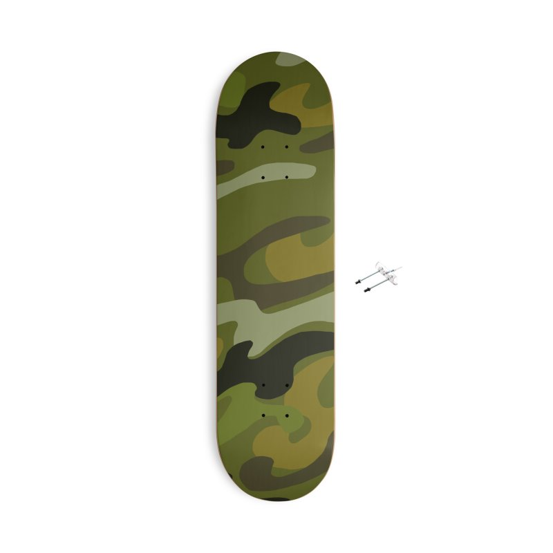 Camouflauge 1 Accessories With Hanging Hardware Skateboard by Michael Pfleghaar