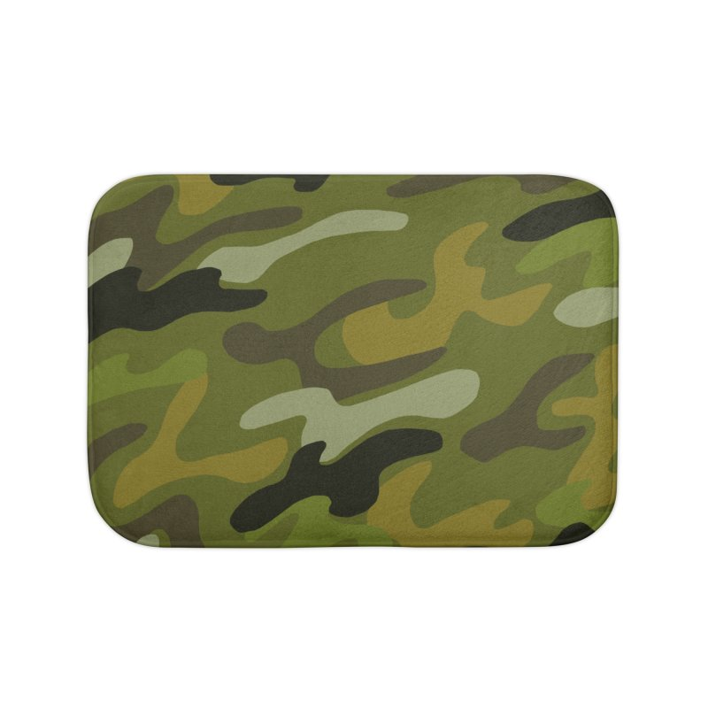 Camouflauge 1 Home Bath Mat by Michael Pfleghaar