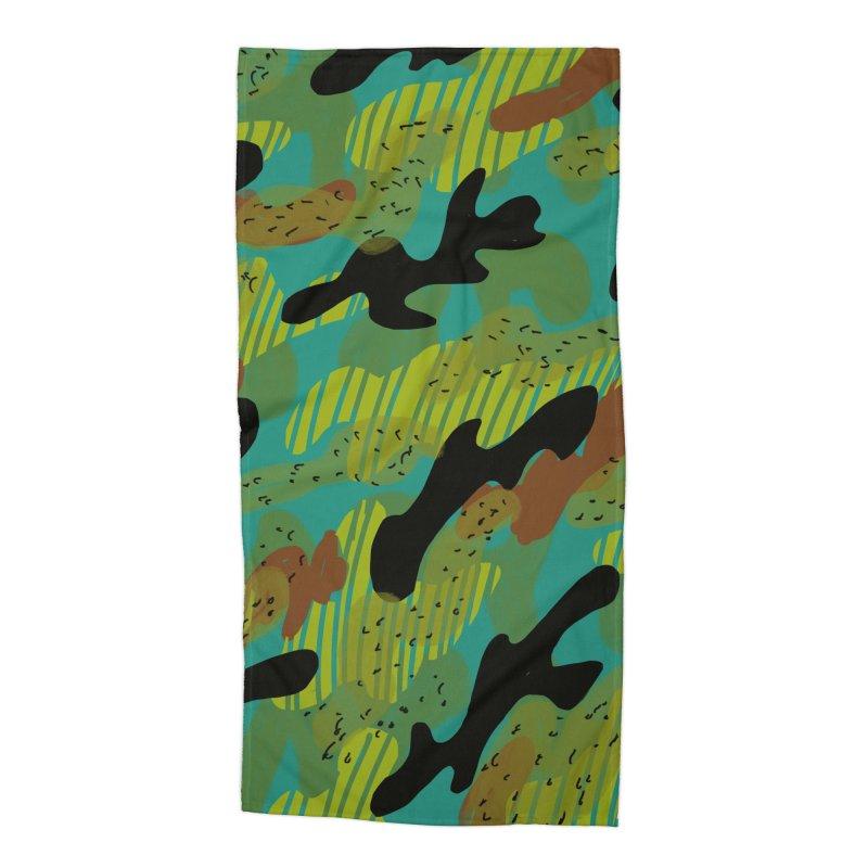 Camouflage 2 Accessories Beach Towel by Michael Pfleghaar