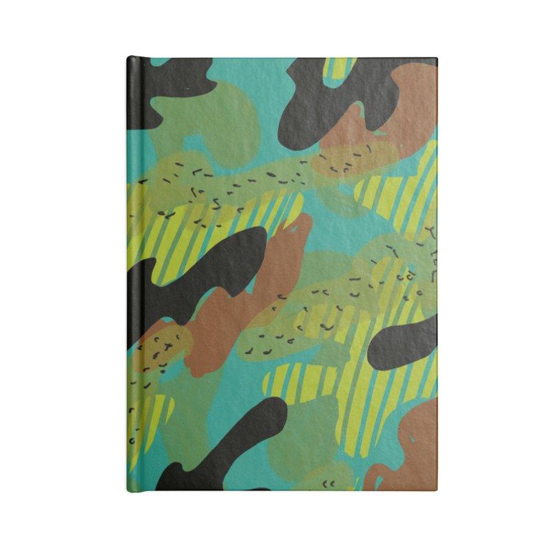 Camouflage 2 Accessories Blank Journal Notebook by Michael Pfleghaar