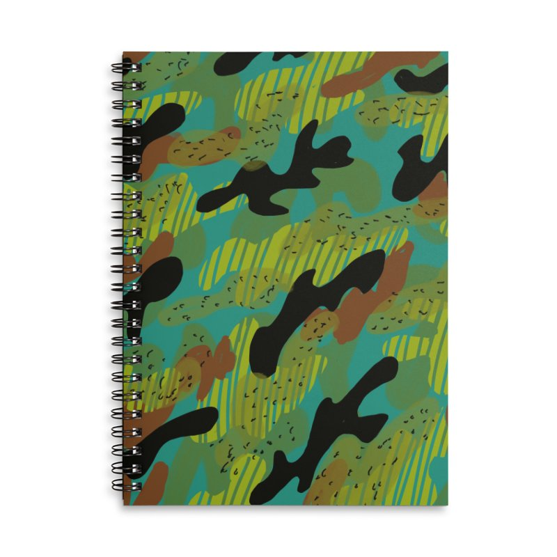 Camouflage 2 Accessories Lined Spiral Notebook by Michael Pfleghaar