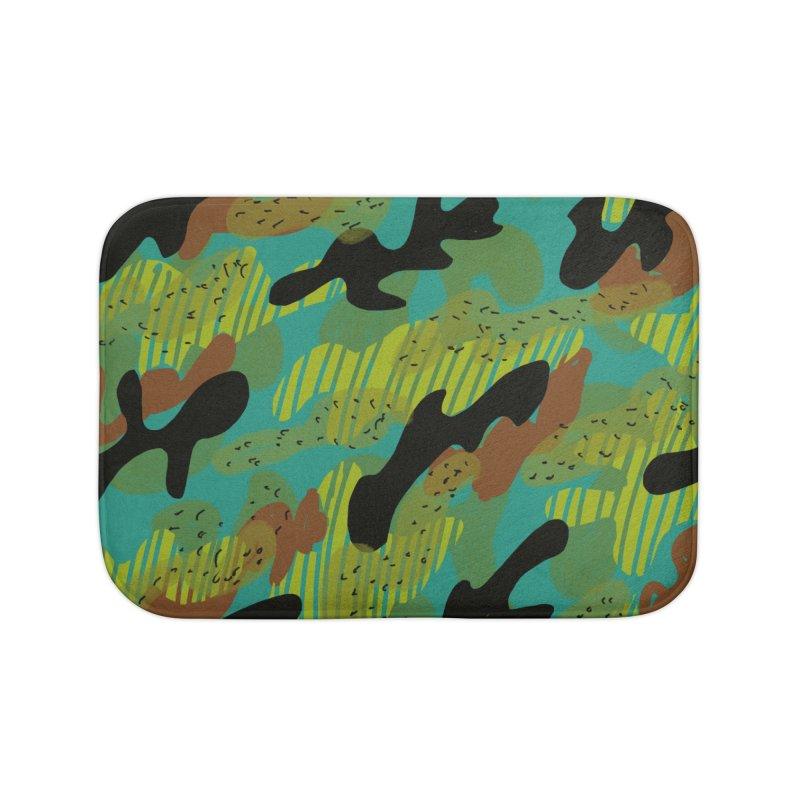 Camouflage 2 Home Bath Mat by Michael Pfleghaar