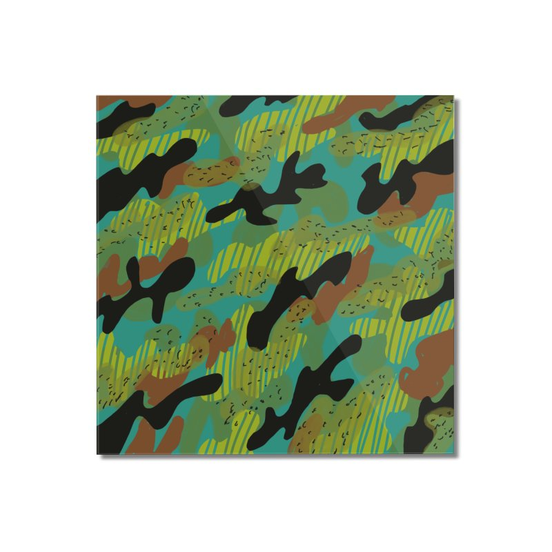 Camouflage 2 Home Mounted Acrylic Print by Michael Pfleghaar