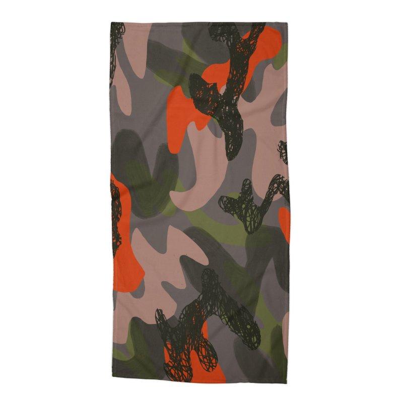 Camouflage 3 Accessories Beach Towel by Michael Pfleghaar