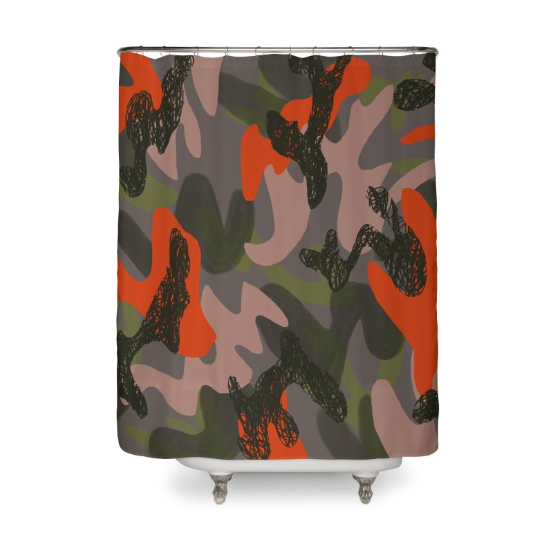 Camouflage 3 Home Shower Curtain by Michael Pfleghaar