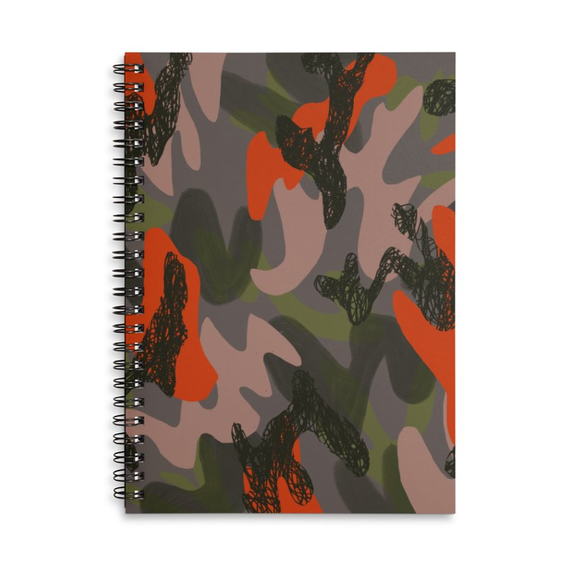 Camouflage 3 Accessories Lined Spiral Notebook by Michael Pfleghaar
