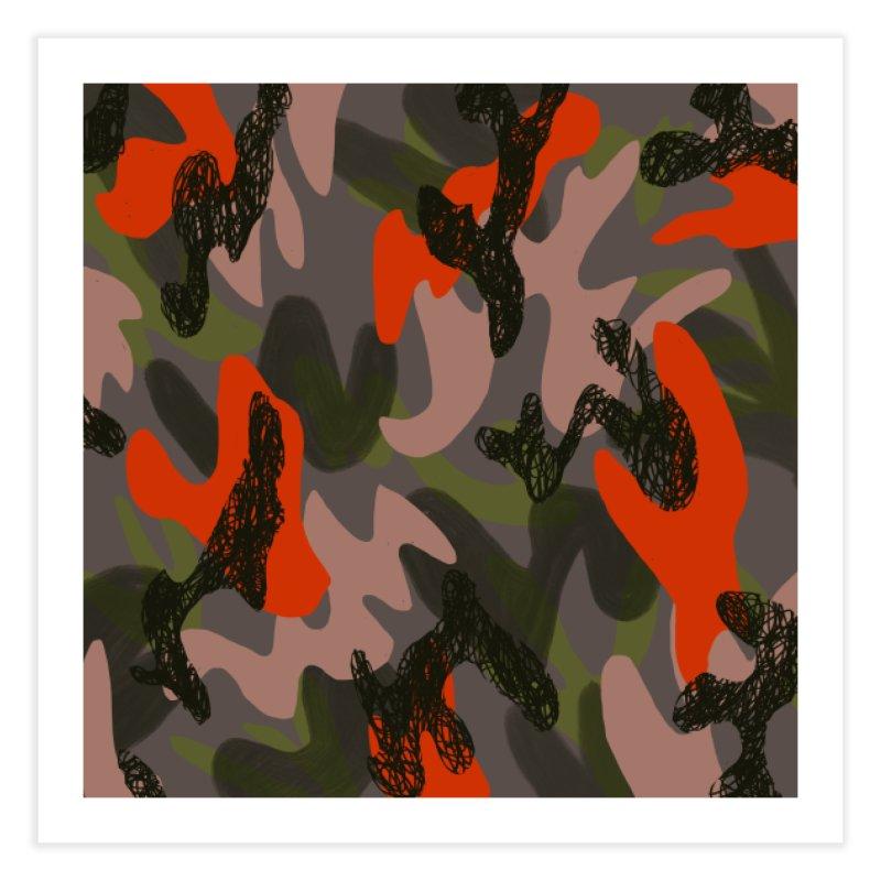 Camouflage 3 Home Fine Art Print by Michael Pfleghaar