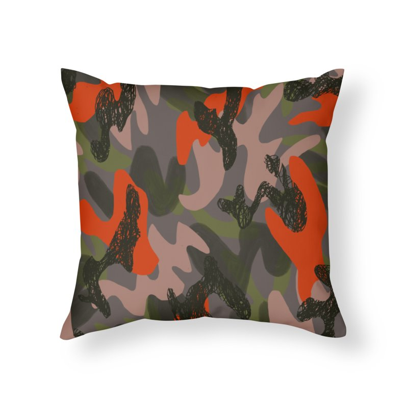 Camouflage 3 Home Throw Pillow by Michael Pfleghaar