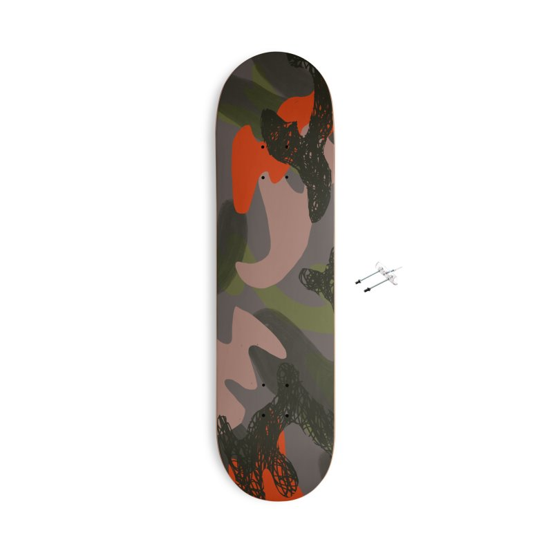 Camouflage 3 Accessories With Hanging Hardware Skateboard by Michael Pfleghaar