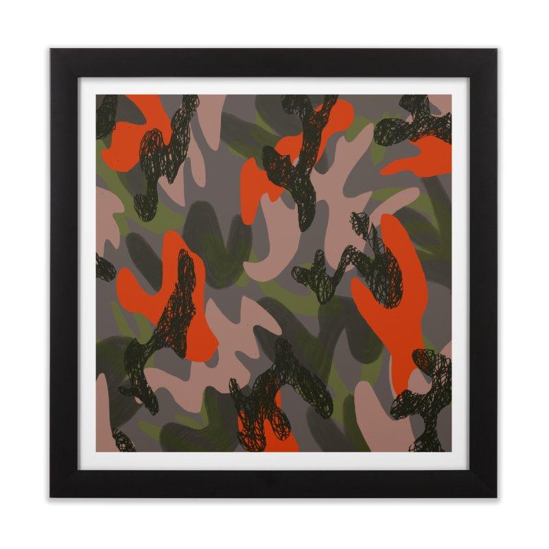 Camouflage 3 Home Framed Fine Art Print by Michael Pfleghaar
