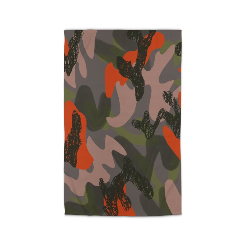 Camouflage 3 Home Rug by Michael Pfleghaar