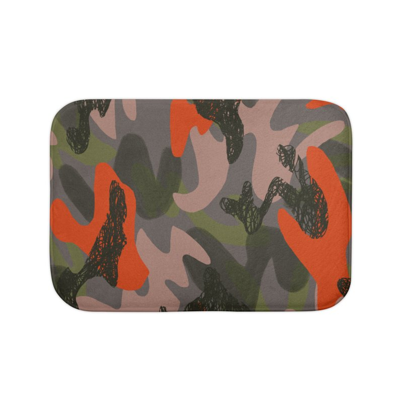 Camouflage 3 Home Bath Mat by Michael Pfleghaar