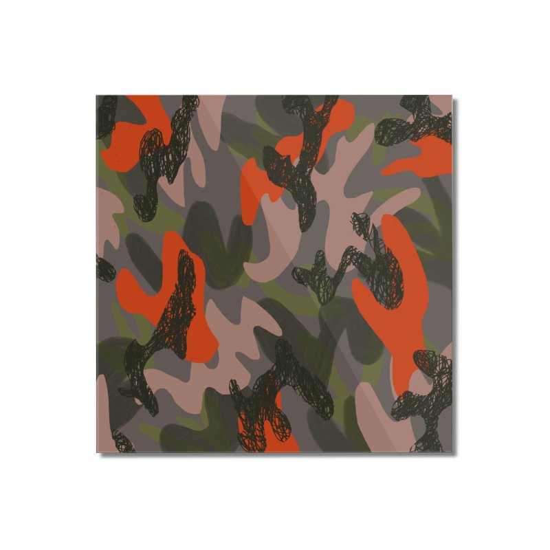 Camouflage 3 Home Mounted Acrylic Print by Michael Pfleghaar