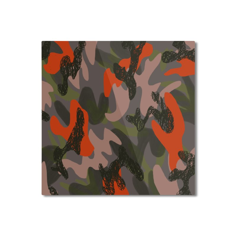 Camouflage 3 Home Mounted Aluminum Print by Michael Pfleghaar