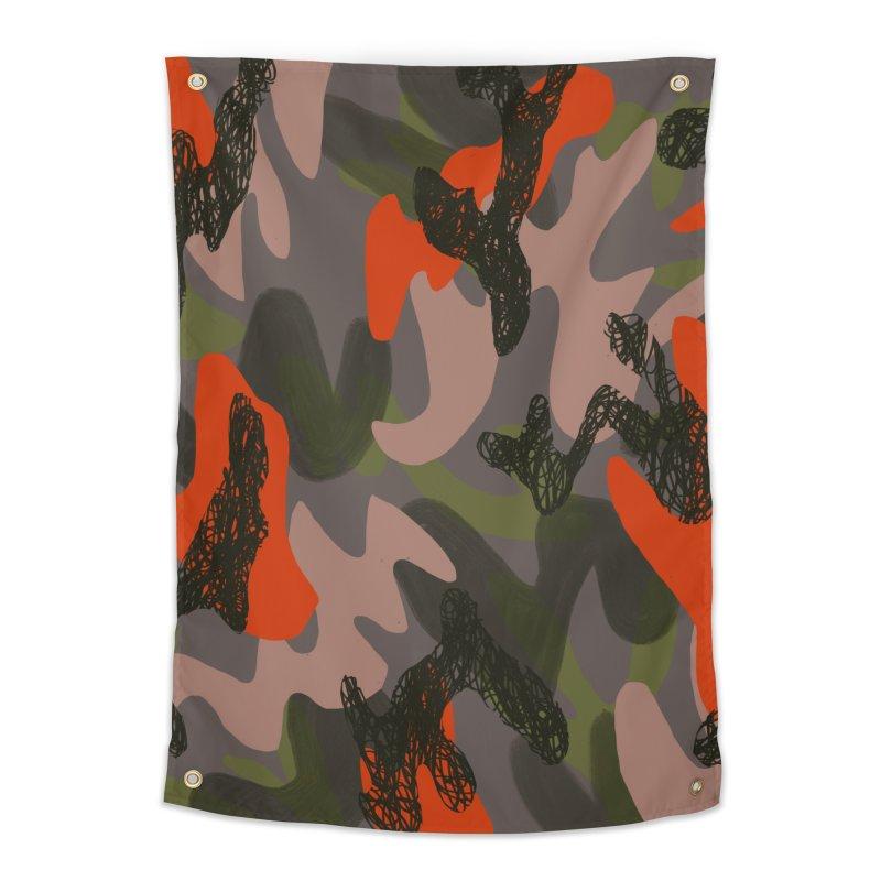 Camouflage 3 Home Tapestry by Michael Pfleghaar