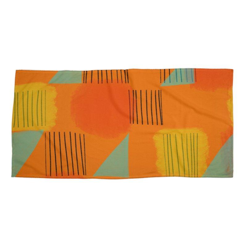 Flags 2 Accessories Beach Towel by Michael Pfleghaar