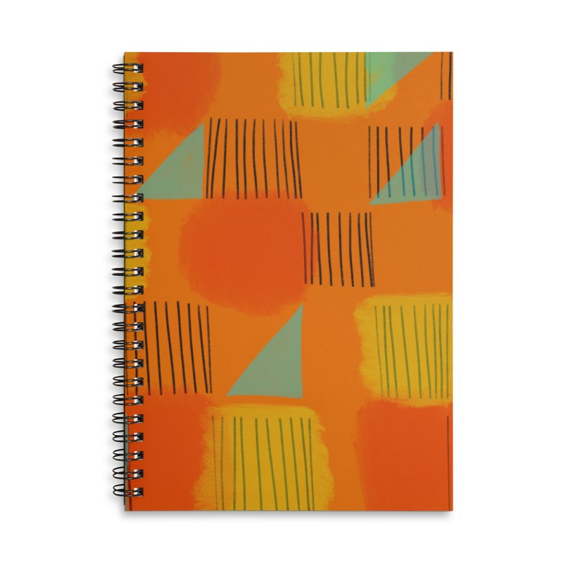Flags 2 Accessories Lined Spiral Notebook by Michael Pfleghaar