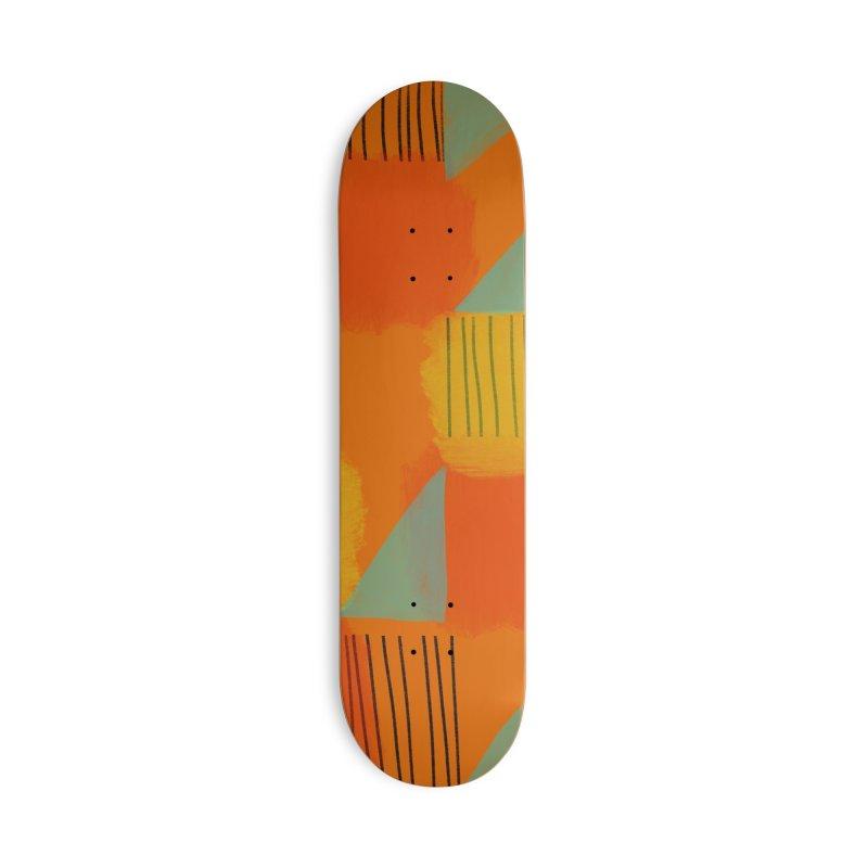 Flags 2 in Deck Only Skateboard by Michael Pfleghaar