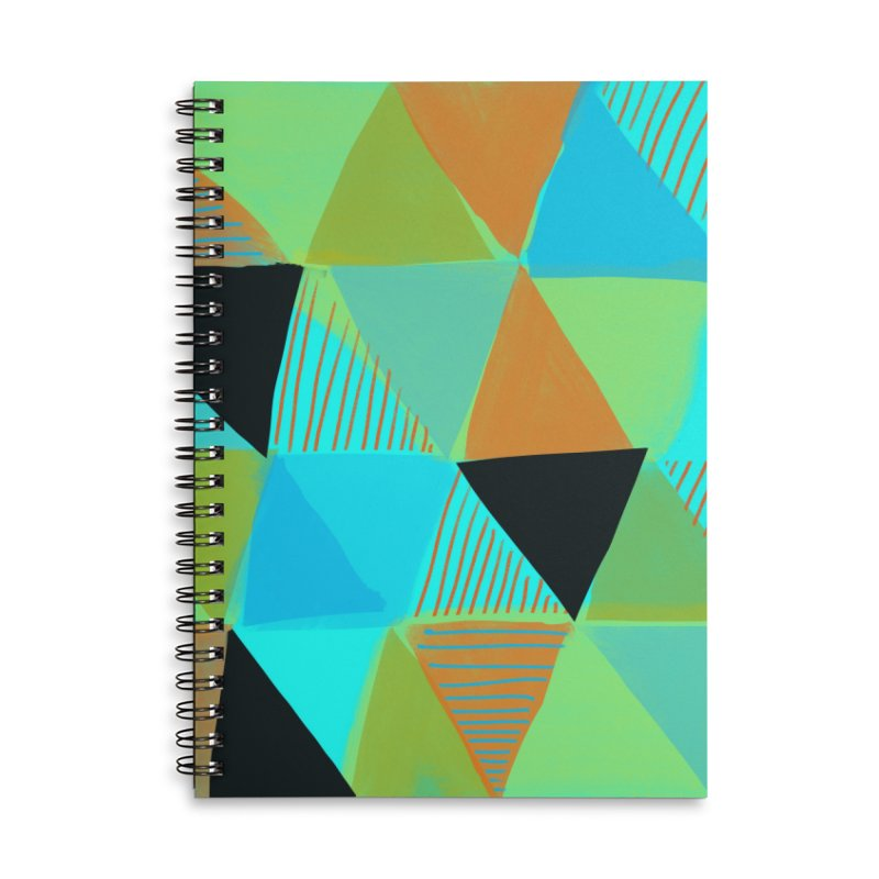 Harlequin 2 Accessories Lined Spiral Notebook by Michael Pfleghaar