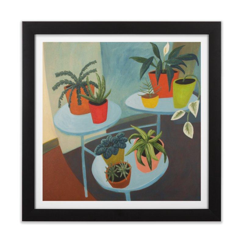 Plant Stand 1 in Framed Fine Art Print Black by Michael Pfleghaar