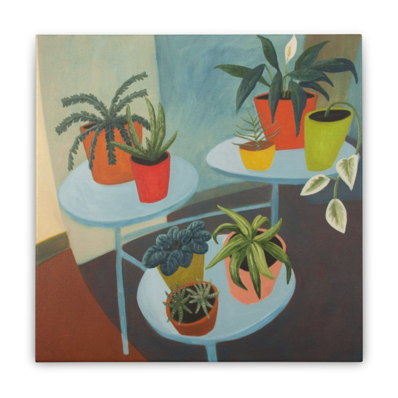 Plant Stand 1 Home Stretched Canvas by Michael Pfleghaar