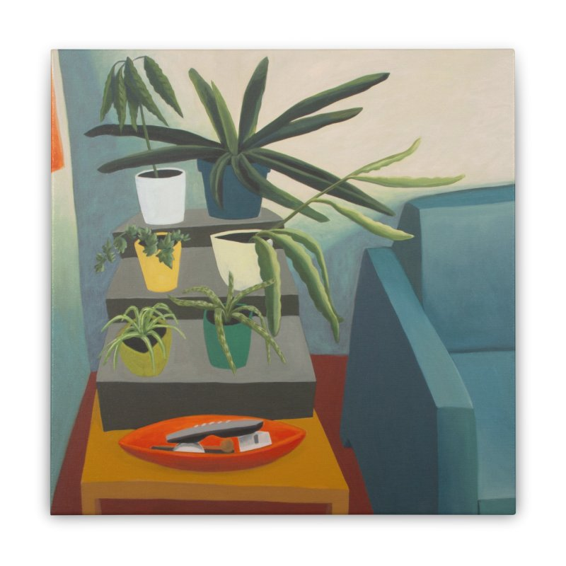 Plant Stand 2 Home Stretched Canvas by Michael Pfleghaar