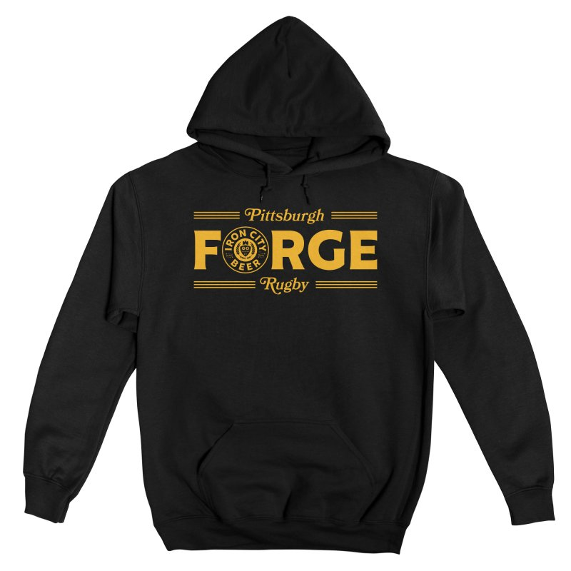Forged With Iron - Gold Logo Men's Pullover Hoody by Forge Foundry
