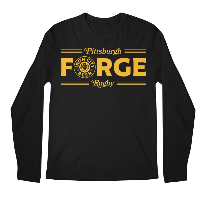 Forged With Iron - Gold Logo Men's Longsleeve T-Shirt by Forge Foundry