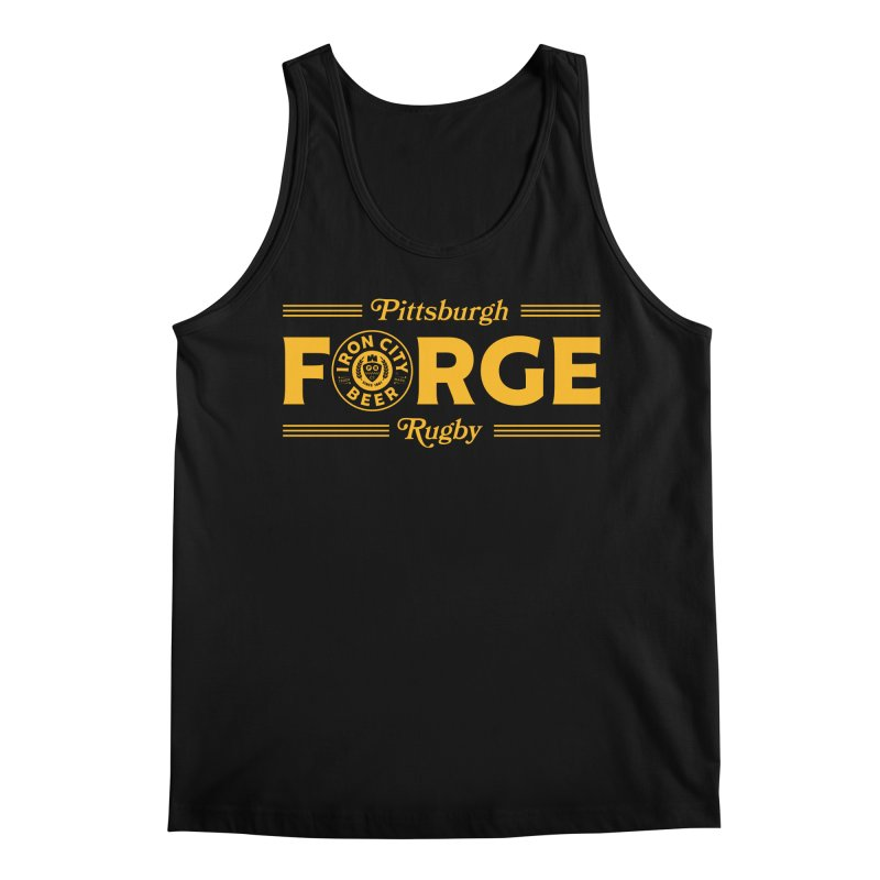 Forged With Iron - Gold Logo Men's Tank by Forge Foundry