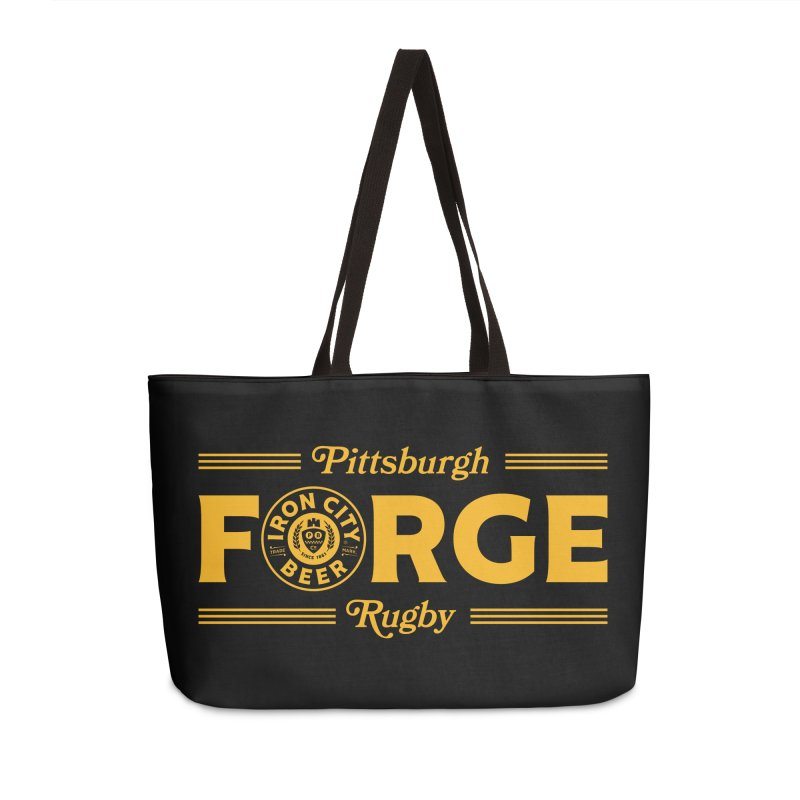 Forged With Iron - Gold Logo Accessories Bag by Forge Foundry