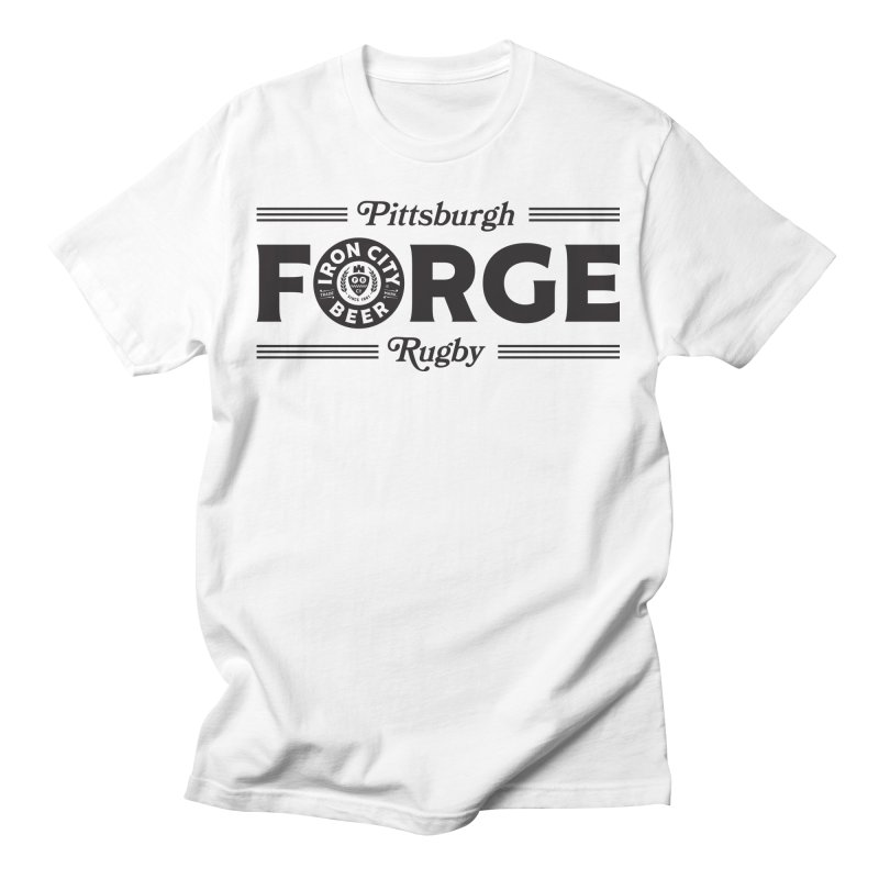 Forged With Iron - Black Logo Men's T-Shirt by Forge Foundry
