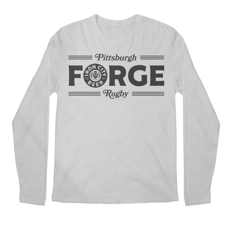 Forged With Iron - Black Logo Men's Longsleeve T-Shirt by Forge Foundry