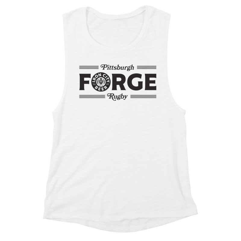 Forged With Iron - Black Logo Women's Tank by Forge Foundry