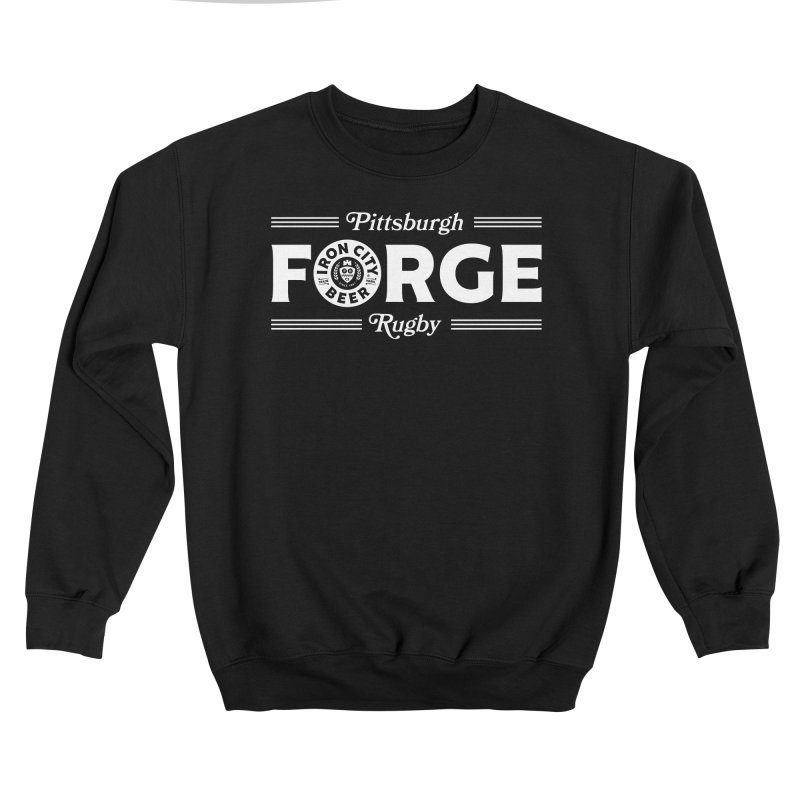 Forged With Iron - White Logo Men's Sweatshirt by Forge Foundry